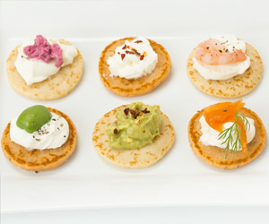 Blinis toppings for Canape toppings ideas