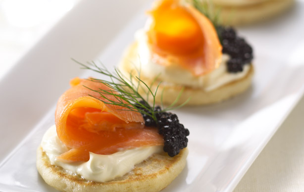 Blinis cr pe cuisine for Breakfast canape